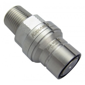 QD4 Male Quick Disconnect No-Spill Coupling, Male Threaded, 3/8 NPT[QD4-MSN38]